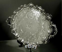 English Sterling Tea Set Tray 1853 Edward Barnard