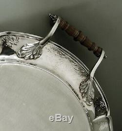 English Sterling Tea Set Tray C. J. Vander George II Manner