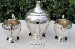 Estate Sterling Silver Preisner 725 Tea Set! Pot Sugar Bowl & Creamer-no Monos
