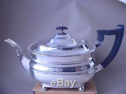 Excellent Beautiful Large 1,146 Grams Sterling Silver Crest Tea Set Service 1931