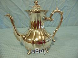 F. B. Rogers Silver Tea Service, Set of 4 pieces