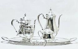 Fabulous Antique Set of Five English Tea Set Camille International Silver Plated