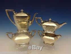 Fairfax by Gorham Sterling Silver Tea Set 4pc Coffee Tea Sugar Creamer (#0391)