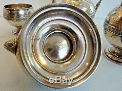 Fine J. E. Caldwell Sterling Silver 6-piece Tea/coffee Set English Sterling