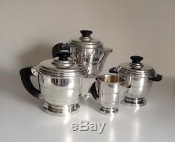 Four Piece French Art Deco Coffee/Tea Service Coffee Tea Sets