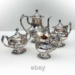 Francis I 4 Piece Tea Coffee Set Reed Barton Sterling Silver
