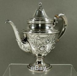 Frank Whiting Sterling Tea Set c1920 TALISMAN ROSE