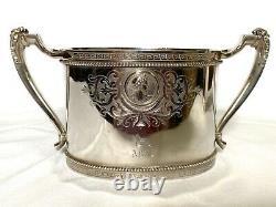 GORHAM MEDALLION STERLING COIN SILVER 3 PIECE TEA SET, c. 1863-67