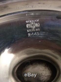 GORHAM Sterling Silver Plymouth Coffee Tea Pot Set + Tray 6 Pc NO MONOGRAM