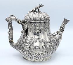 GROSJEAN & WOODWARD Tea and Coffee Set FOX BEAR STAG FINIALS