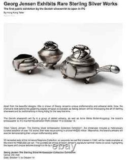 Georg Jensen Blossom MINIATURE Sterling Silver Tea Set. Design GJ himself. RARE