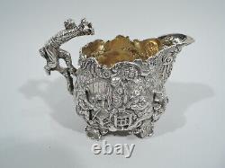 George IV Tea Set Georgian Regency English Sterling Silver Edward Farrell