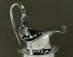 George Sharp Silver Tea Set c1850 Maiden & Dog