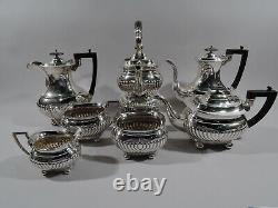 George V Coffee & Tea Set Antique Georgian English Sterling Silver 1918/9