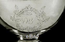 George W Riggs Silver Tea Set c1810 Federal Style
