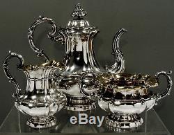German Silver Tea Set c1875 S. H. & CO. BIEDERMEIER STYLE
