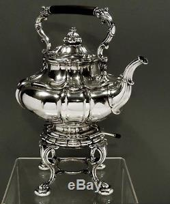 German Silver Tea Set c1875 Sackerman & Hessenberg, Frankfurt 58 OZ