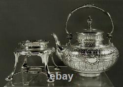 German Silver Tea Set c1885 C. BECKER CLASSICAL