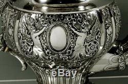 German Silver Tea Set c1890 Johann Kurz, Hanau