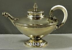 German Sterling Tea Set c1890 BRUCKMANN