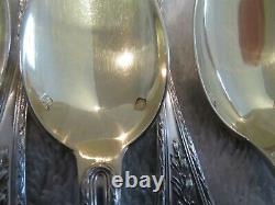 Gorgeous 1900 french sterling silver boxed tea set (14p) Louis XVI st laurels