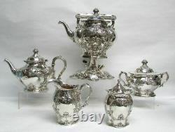 Gorgeous 1905 Gorham Sterling Silver 3,070 Gram 6 Piece Coffee & Tea Set