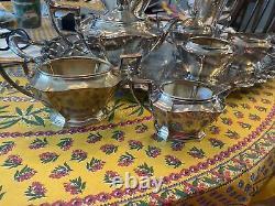 Gorham Antique Plymouth Sterling Tea Set