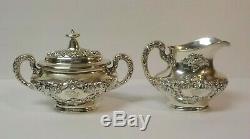 Gorham BUTTERCUP Sterling Silver 5-Piece Coffee / Tea Set, Monogram S