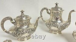Gorham BUTTERCUP Sterling Silver 5-Piece Coffee Tea Set No Mono