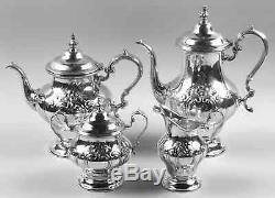 Gorham CHANTILLY-COUNTESS (STERLING HOLLOWWARE) 4-Piece Tea Set 921561