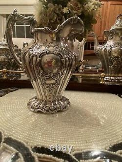 Gorham Chantilly Grand Sterling 5 Pc Tea/Coffee Set, Over 100 Years Old