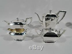 Gorham Fairfax Coffee & Tea Set 04 Art Deco American Sterling Silver
