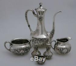 Gorham Fleury Sterling Silver Bachelor Individual Coffee / Tea Set Shakers Salt