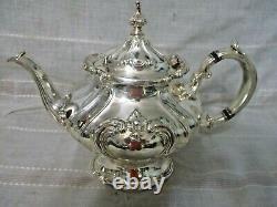 Gorham Older Chantilly Silver Plate Tea Set #YC1302 C1303 YC1304