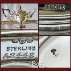 Gorham Plymouth coffee & tea service/set 4 pieces 1916/17 sterling silver B mono