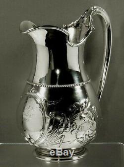 Gorham Silver Water Pitcher c1859 Lincoln Tea Set Mark