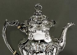 Gorham Sterling Silver Tea Set 1900 CHANTILLY GRAND 59 OZ