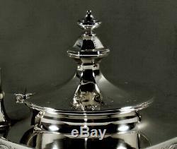 Gorham Sterling Silver Tea Set 1907 Hand Decorated
