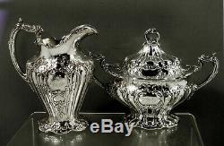 Gorham Sterling Silver Tea Set (4) 1899 Grand Chantilly