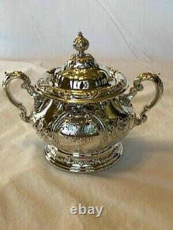 Gorham Sterling Silver Tea Set 6 Piece -Antique- Exquisite, Finely Hand Chased