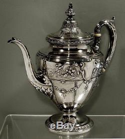 Gorham Sterling Silver Tea Set HAND DECORATED WEIGHS 69 OZ