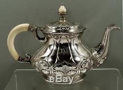 Gorham Sterling Silver Tea Set c1905 ATHENIC ART NOUVEAU