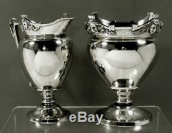 Gorham Sterling Tea Set 1868 Classical Masks No Mono