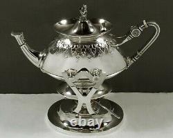 Gorham Sterling Tea Set 1869 EGYPTIAN