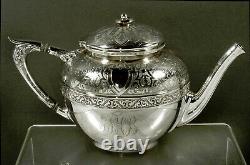 Gorham Sterling Tea Set 1872 PERSIAN PATTERN