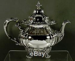 Gorham Sterling Tea Set 1903 Art Nouveau 81 Ounces