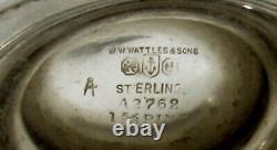 Gorham Sterling Tea Set 1908 HAND DECORATED