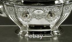 Gorham Sterling Tea Set 1915 HAND DECORATED