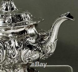 Gorham Sterling Tea Set 1917 Hand Decorated 54 Oz