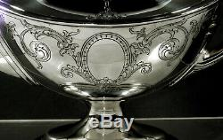 Gorham Sterling Tea Set 1919 Hand Decorated Neoclassical